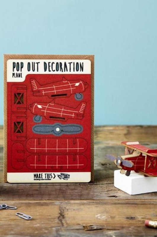 Isa cards & gifts pop out kaart plane