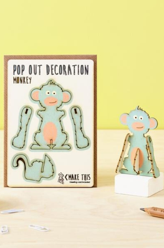 Isa cards & gifts pop out kaart monkey