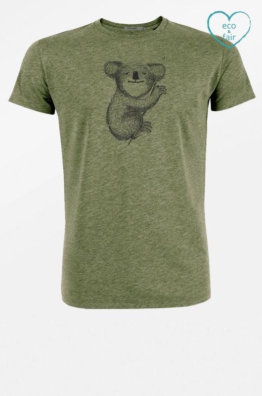 Greenbomb t shirt animal koala groen