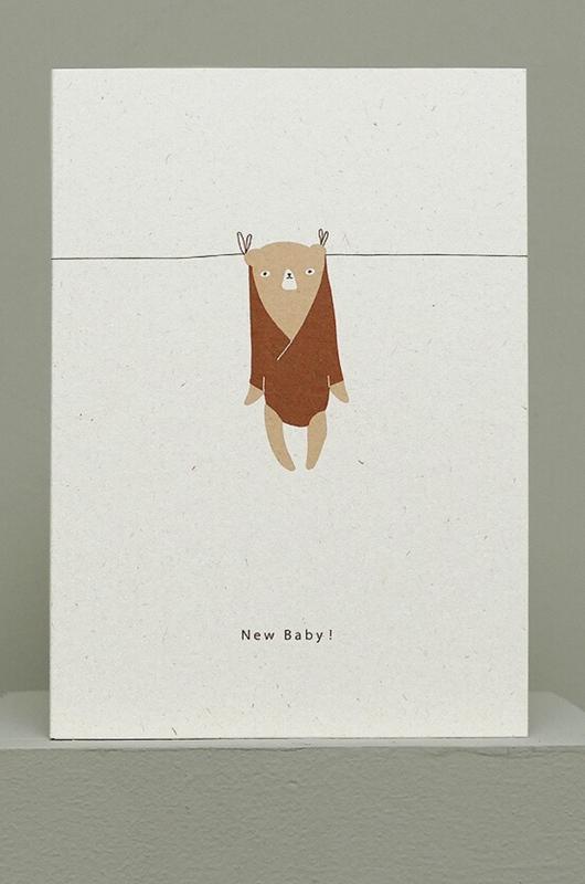 Ted & Tone kaart new baby