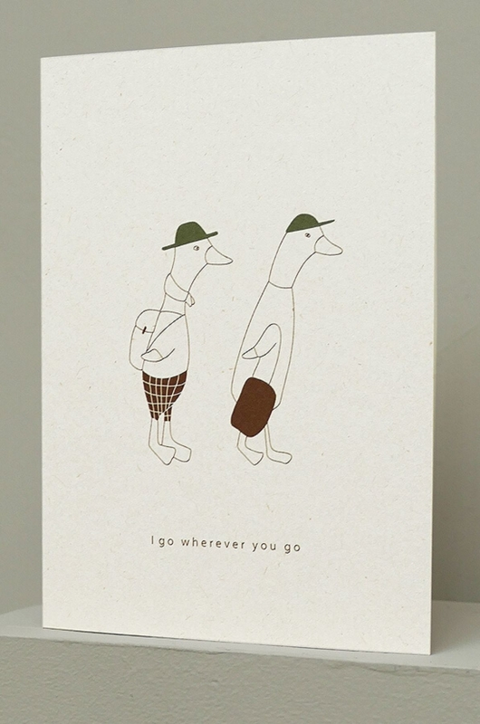 Ted & Tone kaart i go werever you go