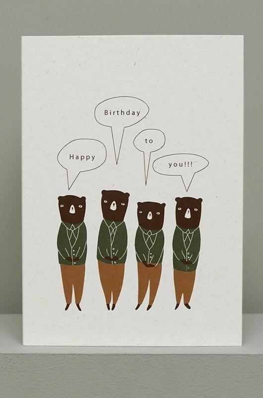 Ted & Tone kaart birthday choir