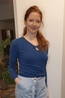 Nice Things trui with bow neckline blauw