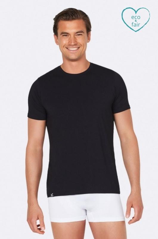 Boody t shirt mens crew neck zwart