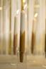 Rustik Lys kaarsen cross diner groen