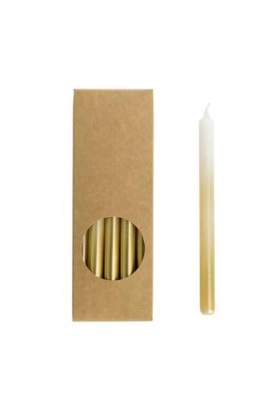 Rustik Lys kaarsen potlood wit