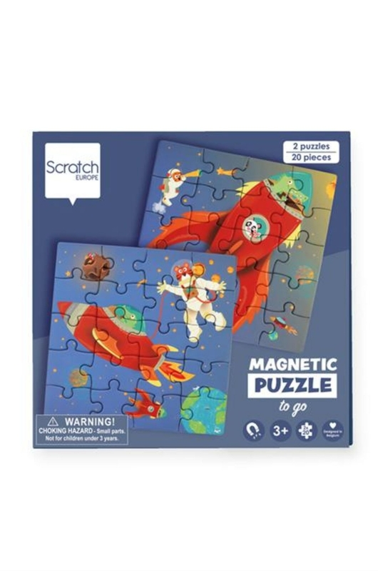 Scratch puzzel magnetisch ruimte