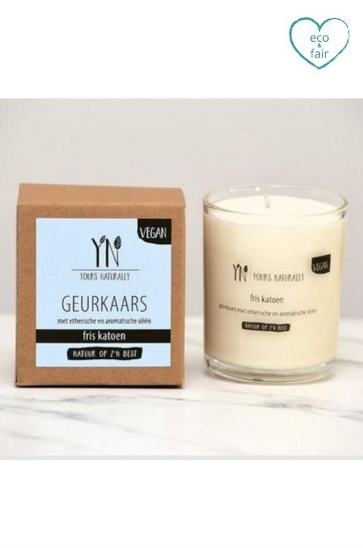 Yours naturally geurkaars glas fris katoen