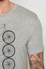 Greenbomb t shirt  bike trio guide grijs