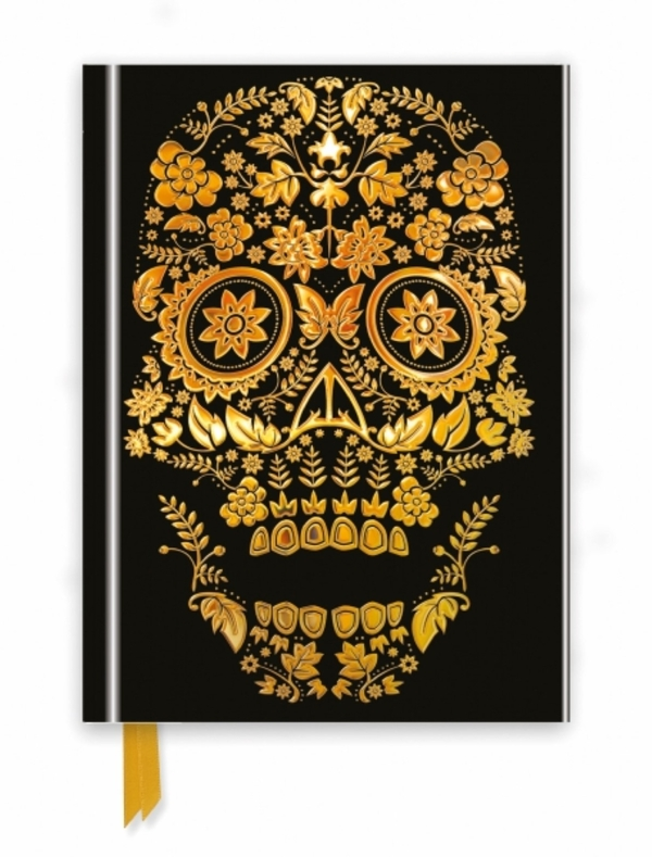Flame Tree Notebook Gold Sugar Skull
