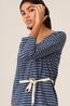 Nice Things jurk striped indigo