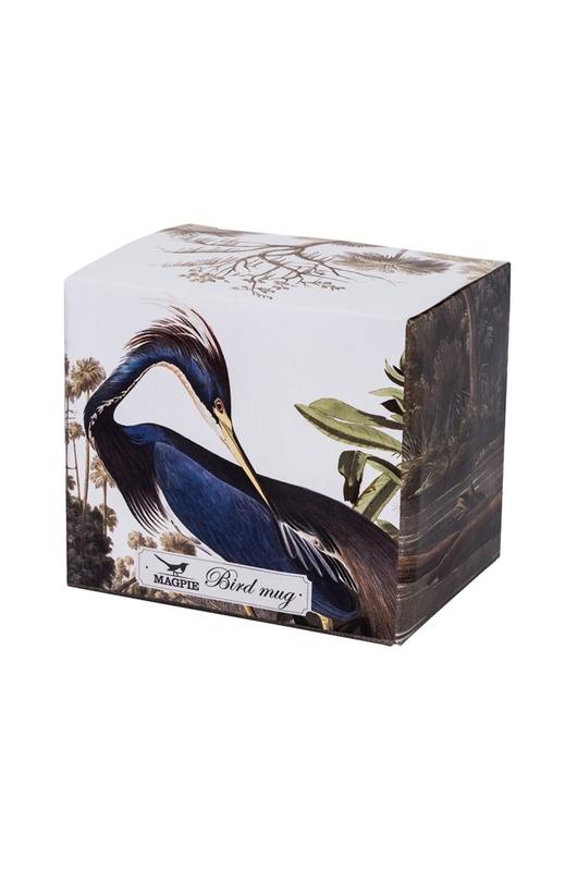 Cubic Birds Mug Louisiana Heron
