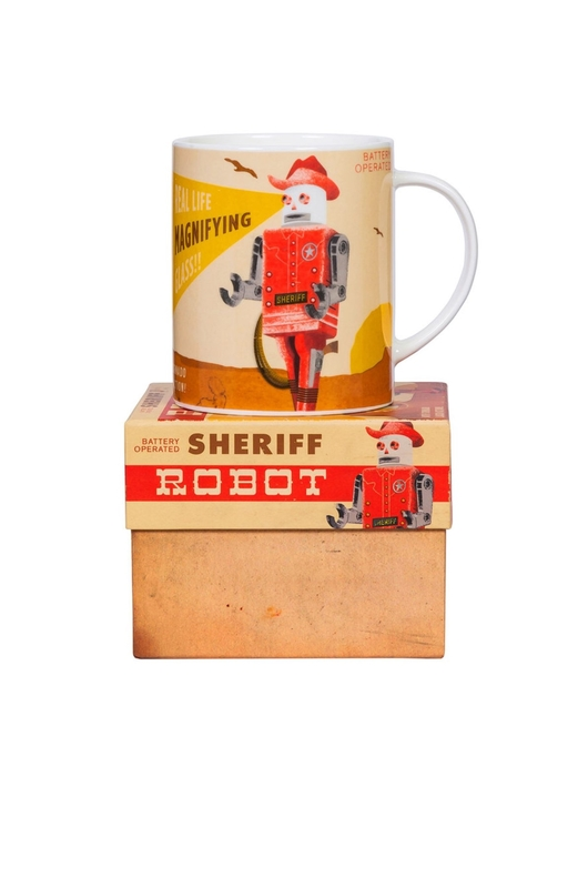 Cubic Roboutique Big Mug Sheriff robot