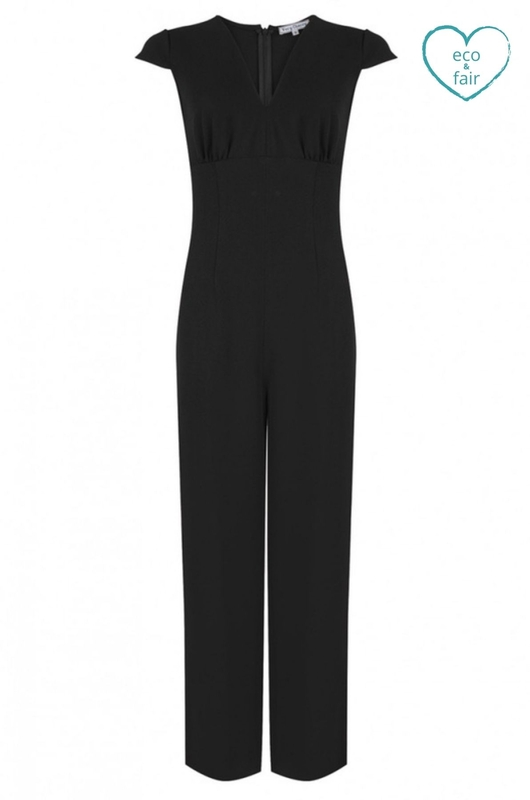 Very Cherry jumpsuit venice zwart