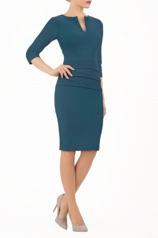 Diva Catwalk jurk daphne petrol