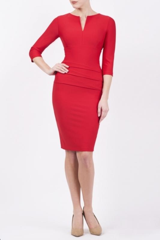 Diva Catwalk jurk daphne rood