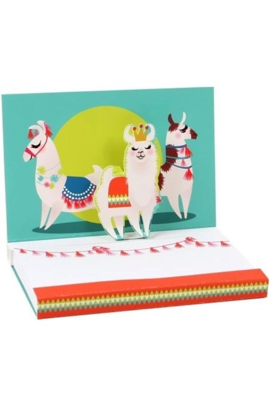 Up With Paper Popshots llamas notepad