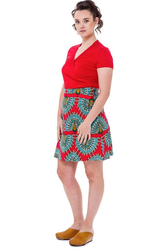 Bakery Ladies shirt wrap rood