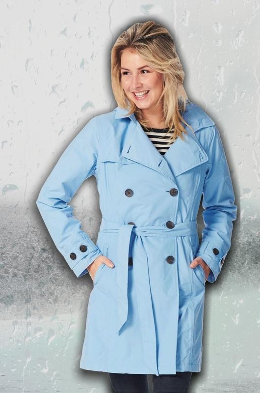 Happy Rainy Days jas babette blauw