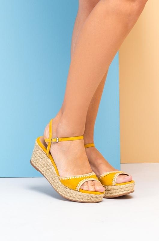 Unisa sandaal geel