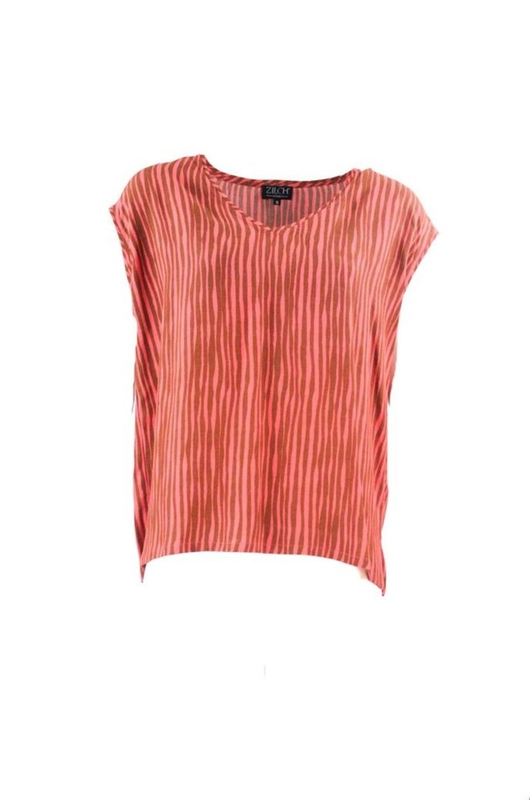 Zilch top v-neck oranje