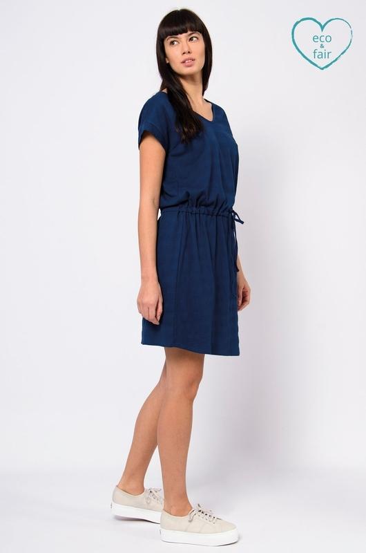 Skunkfunk jurk hogeitabost blauw
