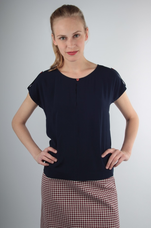 UVR Connected top rosalie blauw