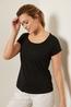 Lanius shirt kurzarm zwart