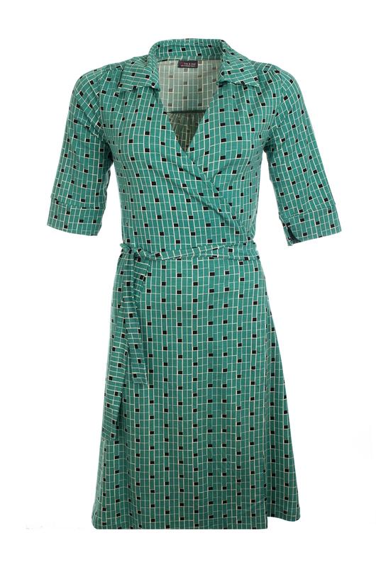Froy & Dind jurk orelie groen