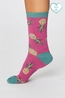 Thought sokken pineapple socks roze