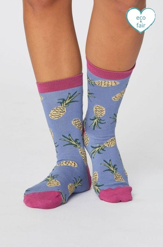 Thought sokken pineapple socks blauw
