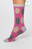 Thought sokken tropical leaf socks roze