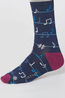 Thought sokken musical sock in a bag blauw