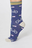 Thought sokken bicycle socks blauw