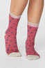 Thought sokken swallow bird socks roze