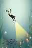 Vissevasse poster the diver