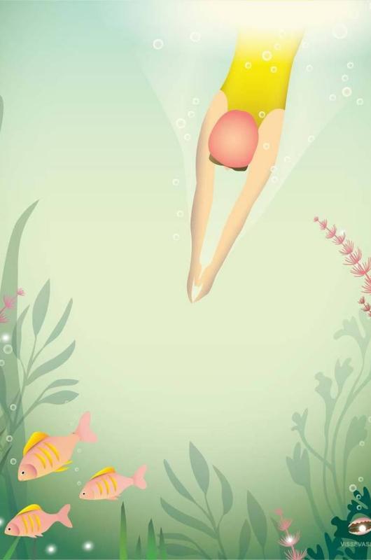 Vissevasse poster swim like a fish