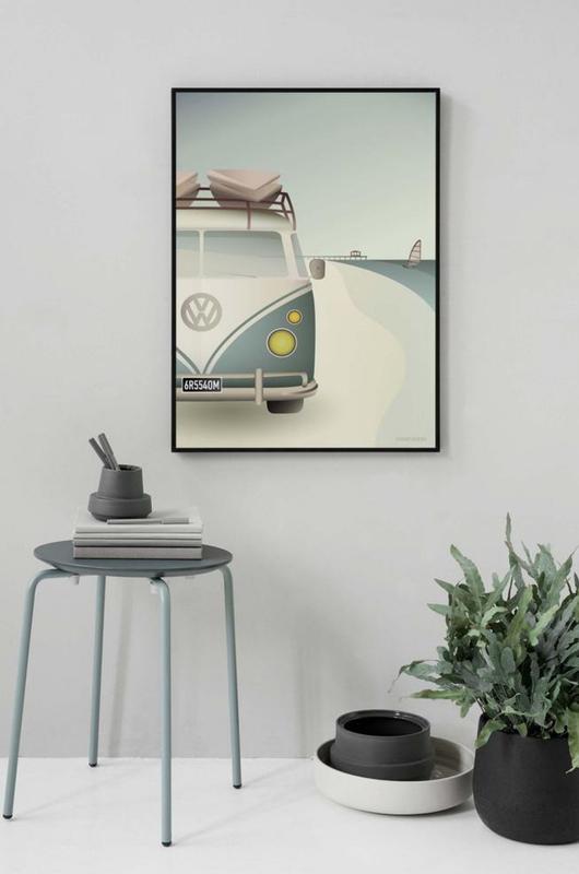Vissevasse poster VW camper