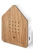 Zwitscherbox vogelhuis relaxing oak wood bruin