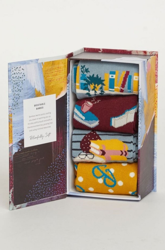 Thought sokken the reader box multicolor