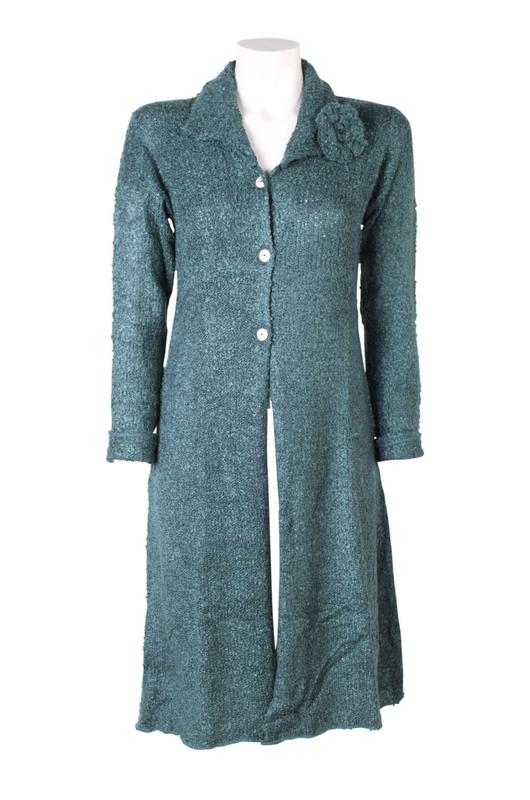 Bindi vest flower cardigan groen