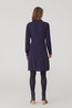 Nice Things jurk knotted dress blauw