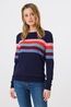 Sugarhill trui gumball machine stripe blauw