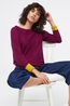 White Stuff trui masterful jumper bordeaux