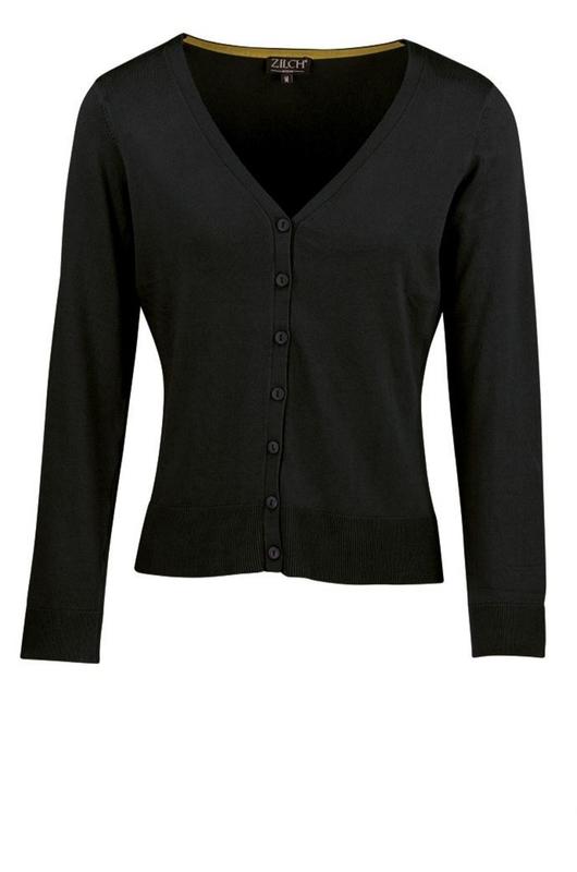 Zilch vest cardigan v neck zwart