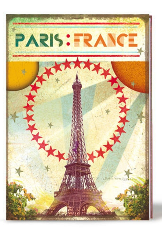Lip International notitieboek eiffel tower multicolor