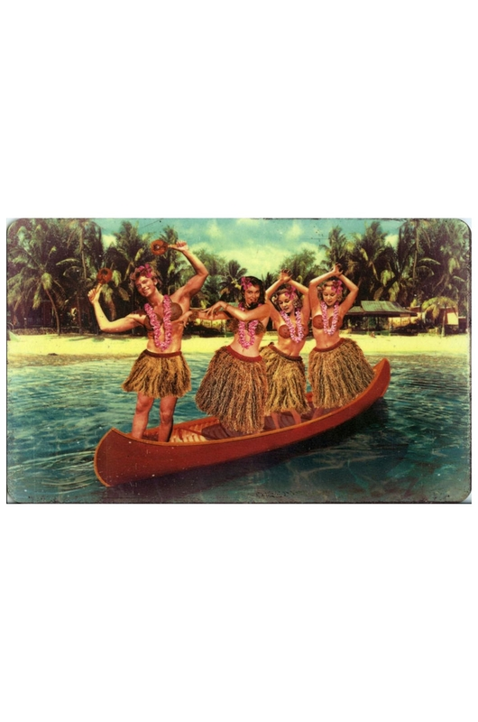 Lip International ontbijtplank hula canoe multicolor
