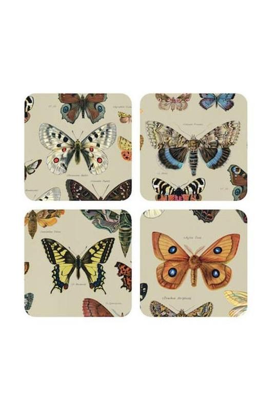 Cubic David Weidman vlinder onderzetters 4 stuks