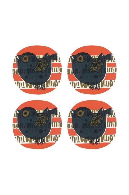 Cubic David Weidman shadowsbirds onderzetters 4 stuks