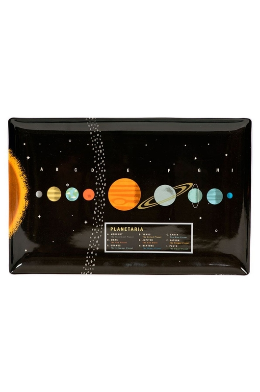 Cubic Groot tray met prachtige vintage planetaria print